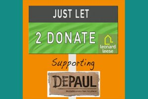 Just Let to donate to Depaul UK